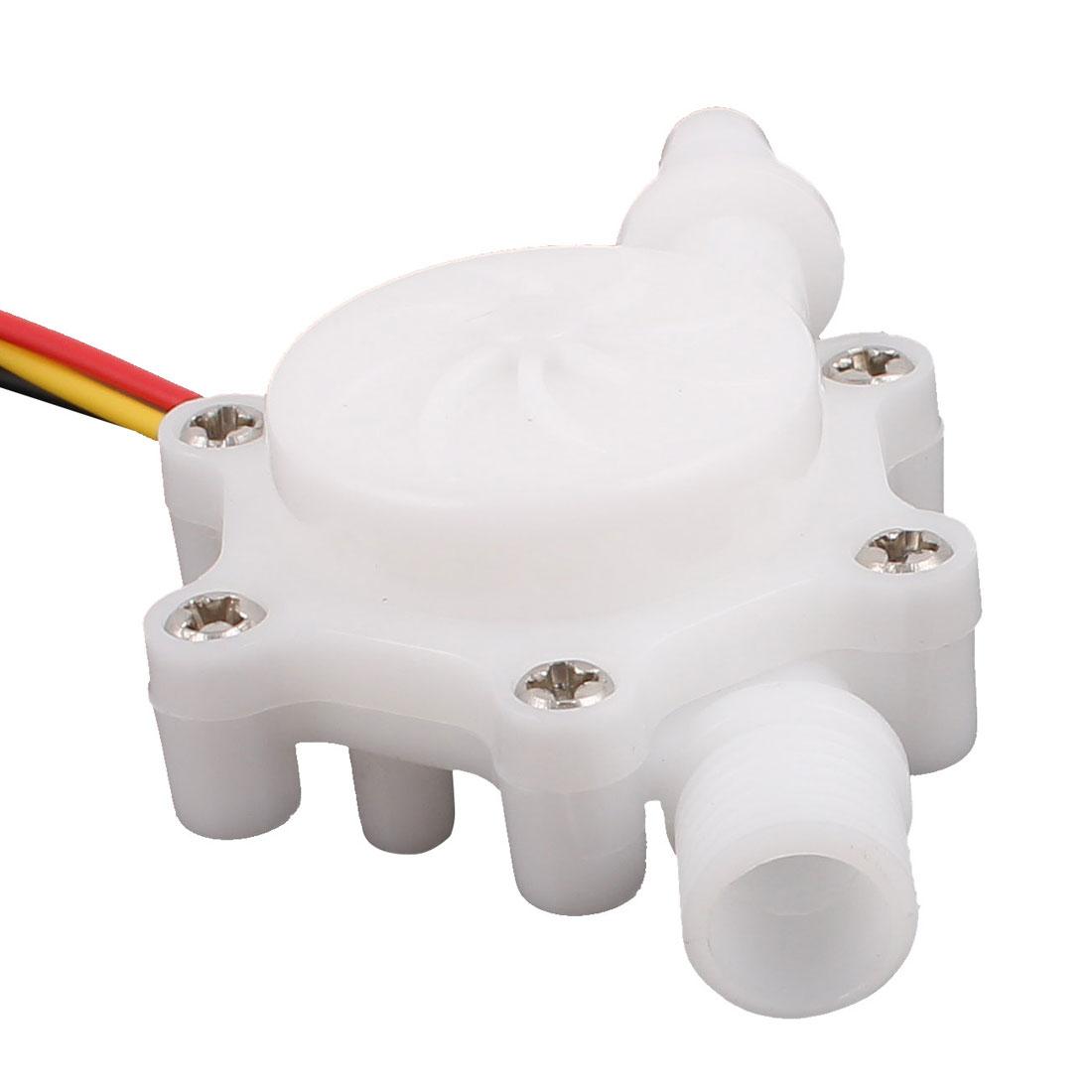 "0.15-1.5L/min G1/4"" Male Thread 6mm Outlet OD Water Flow Sensor SEN-HZ06FB"