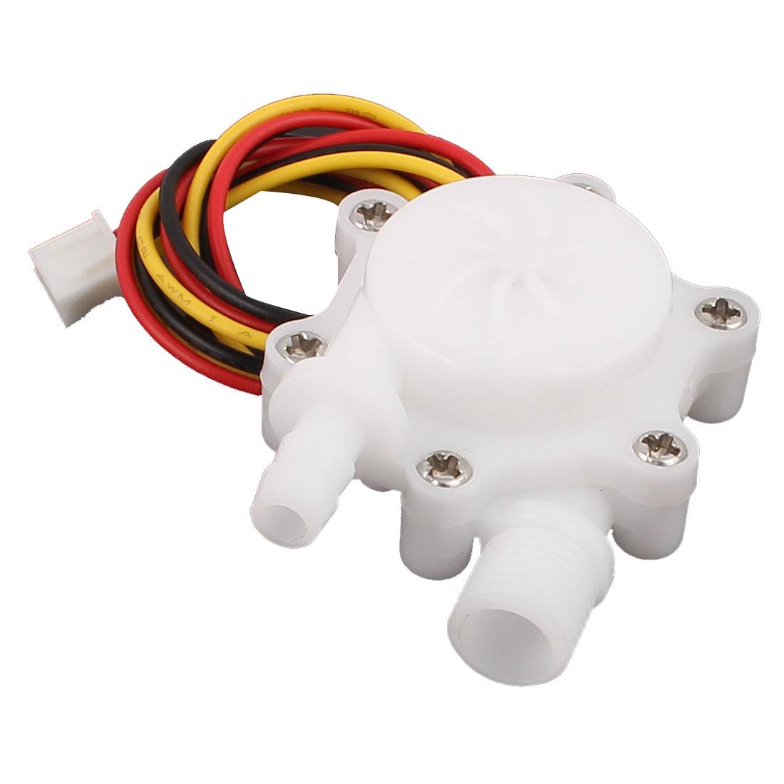 """0.3-3.0L/min G1/4"""" Thread 6mm Outlet OD Water Flow Counter Sensor SEN-HZ06FB"""