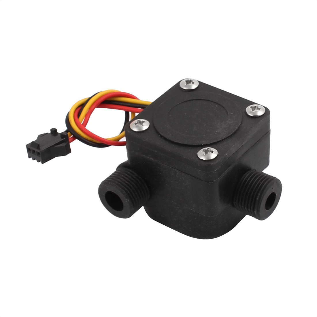 SEN-HZ16WA G3/8 Male Thread Plastic Hall Water Flow Sensor 0.5-20L/min Right Angle