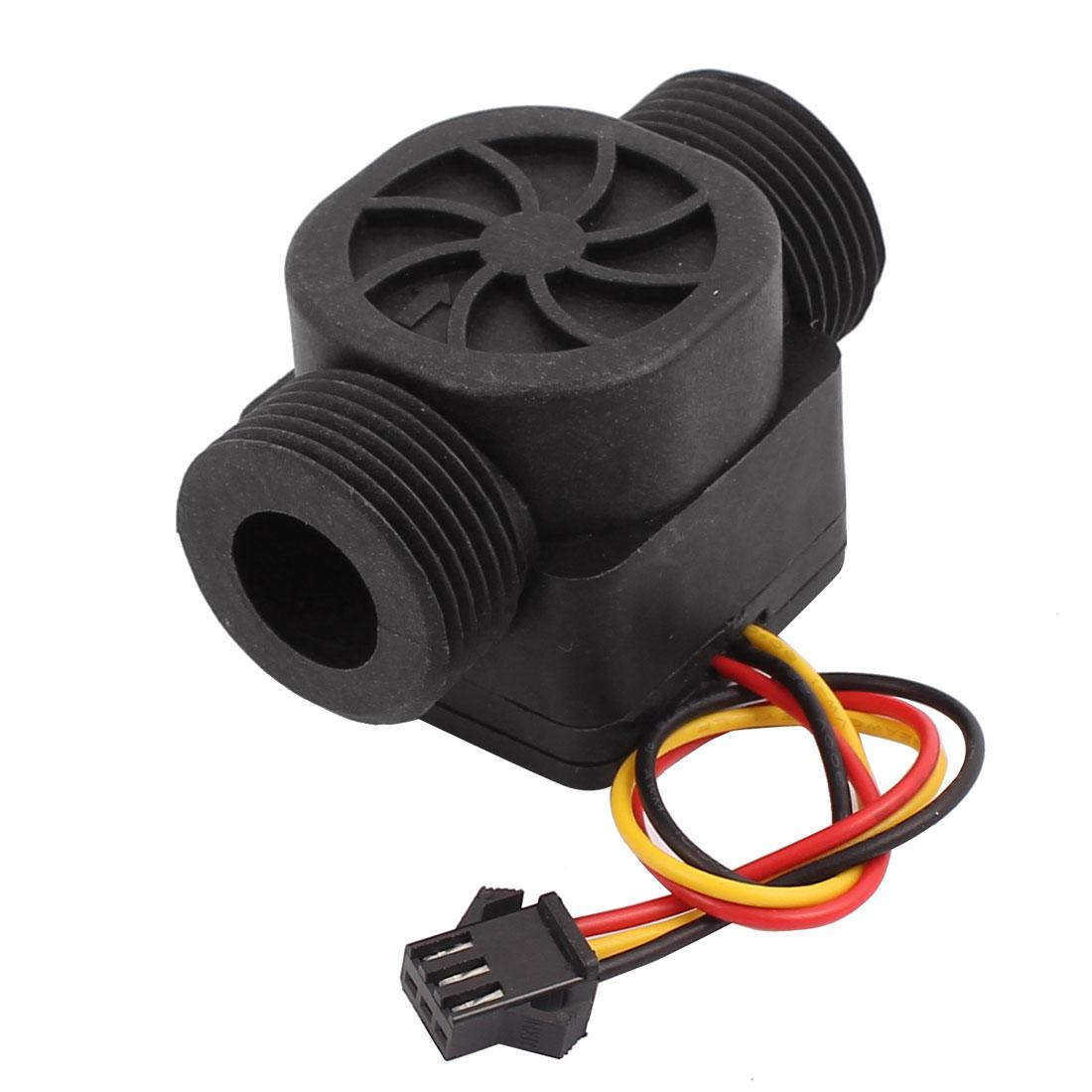 SEN-HZ43WA G3/4 Male Thread Plastic Hall Water Flow Sensor 1.75-43L/min 60mm