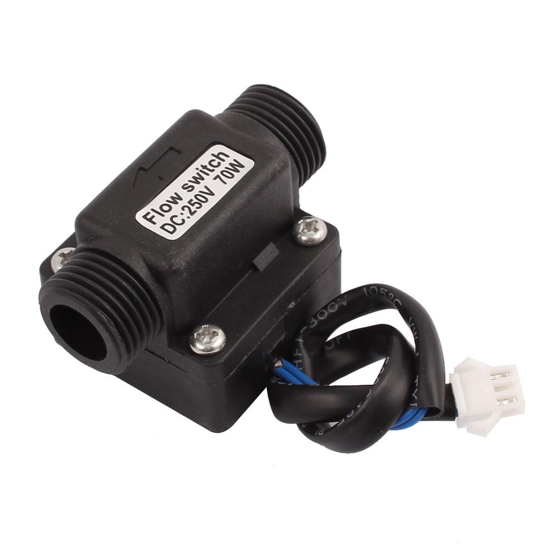 SEN-FB21WA G1/2 DC250V 70W Male Thread Plastic Hall Water Switch 2.5-30L/min 70mm