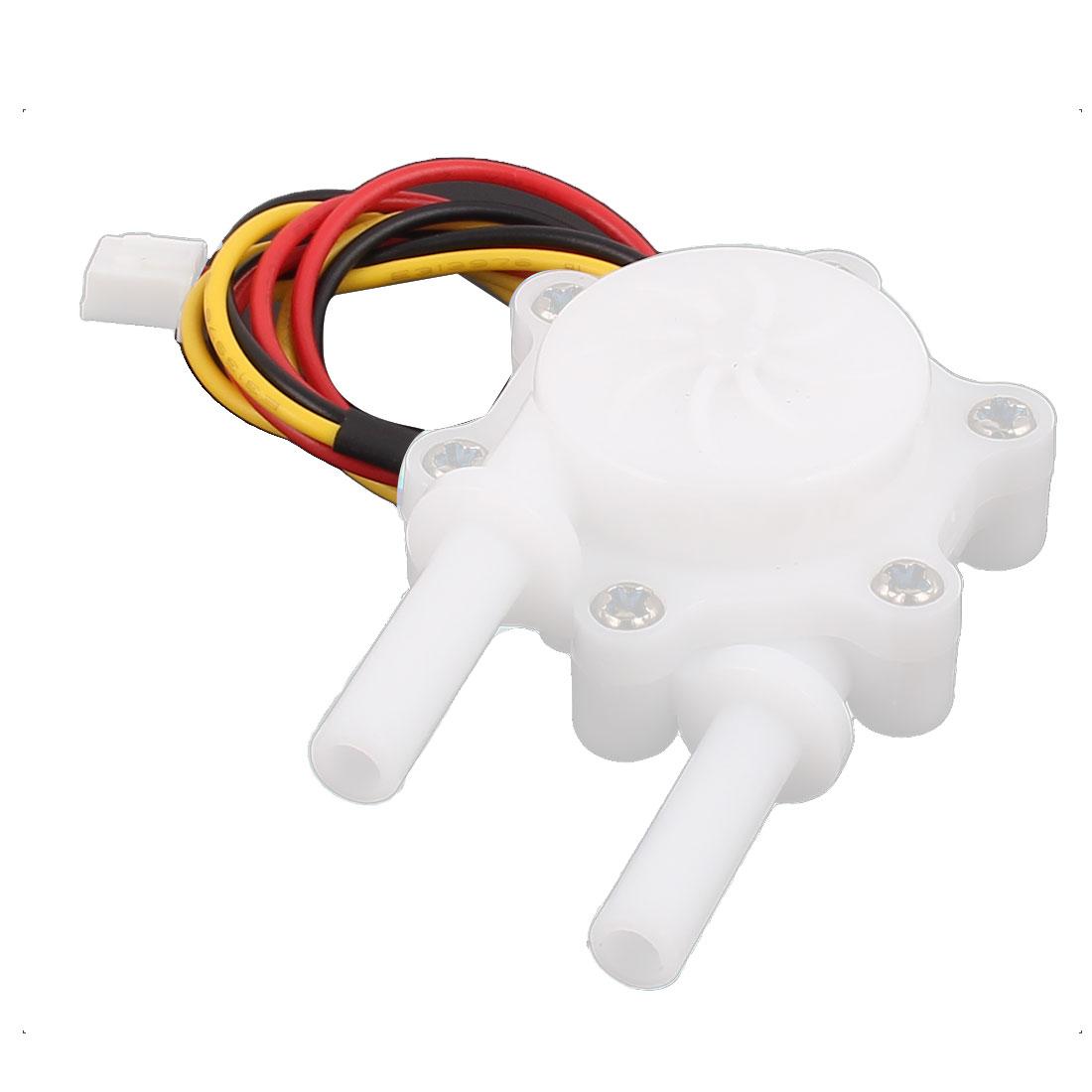 High Precision 0.3-3.0L/min 6mm Inlet Outlet Outside Dia Water Flow Sensor SEN-HW06K