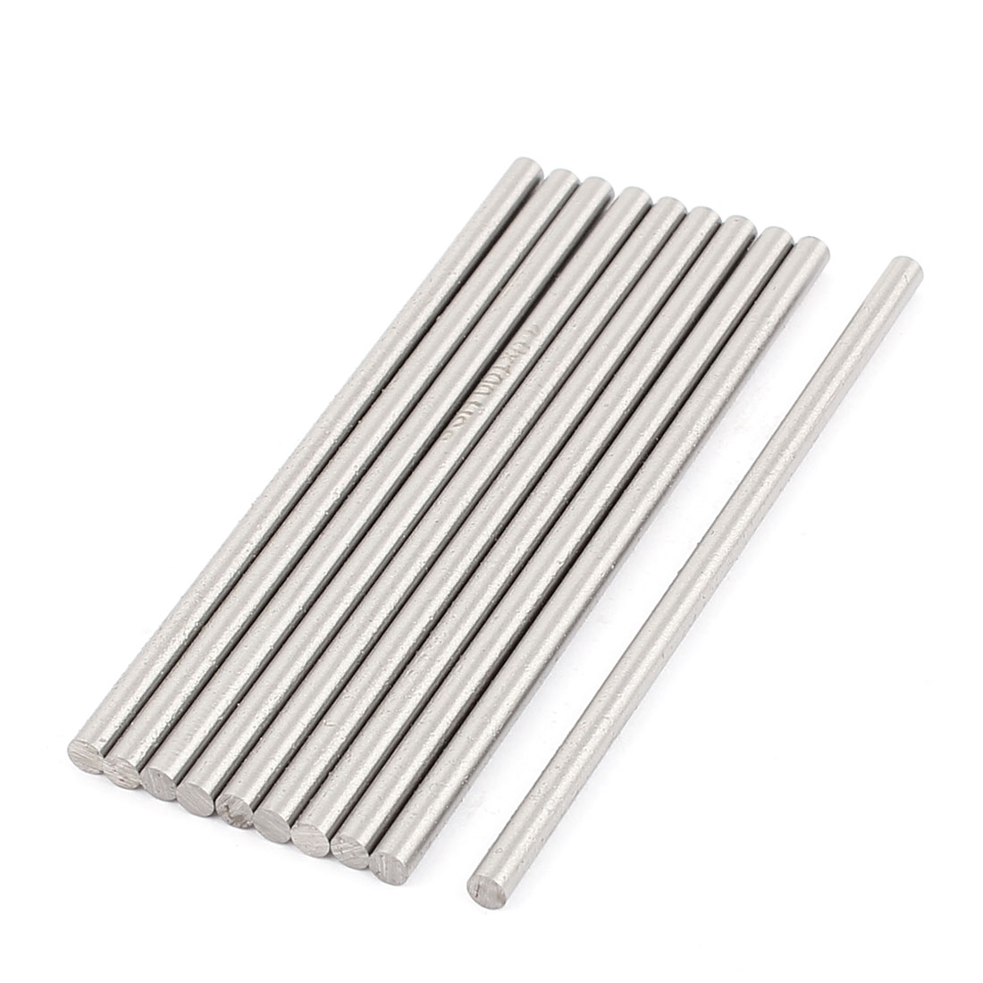 10pcs DIY RC Car Toy Model 100x4mm Straight Metal Round Shaft Rod Bars
