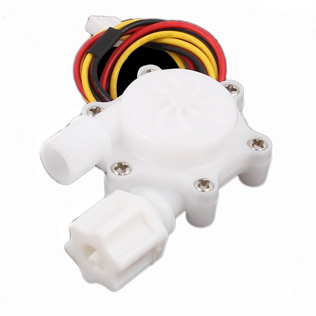 "High Precision 0.15-1.5L/min G1/4"" Inlet Outlet Water Flow Sensor SEN-HW06W"