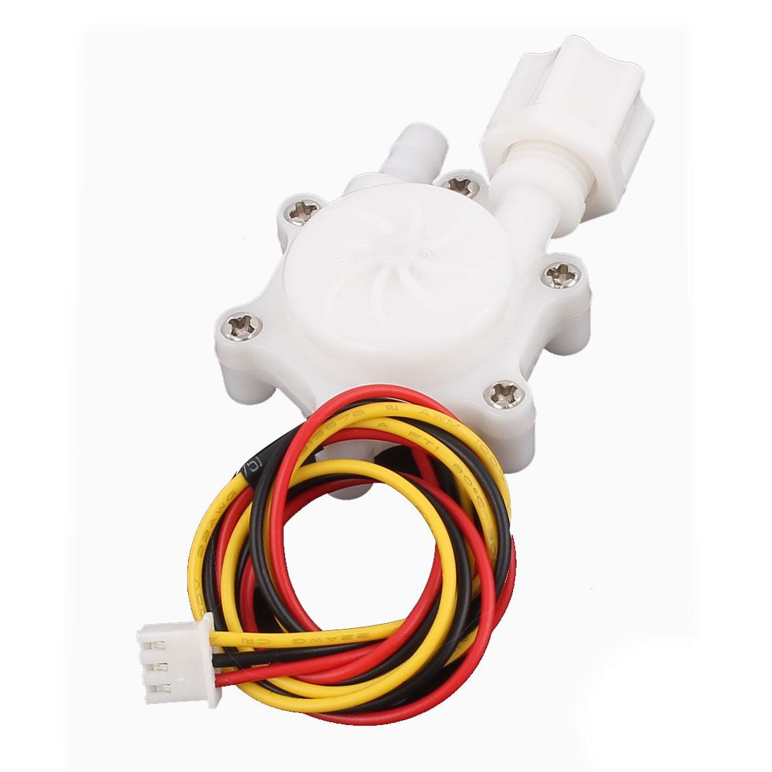 G1/4 Male Thread 6mm Outlet Outer Dia Water Flow Sensor 0.2-2.5L/min SEN-HW06FA
