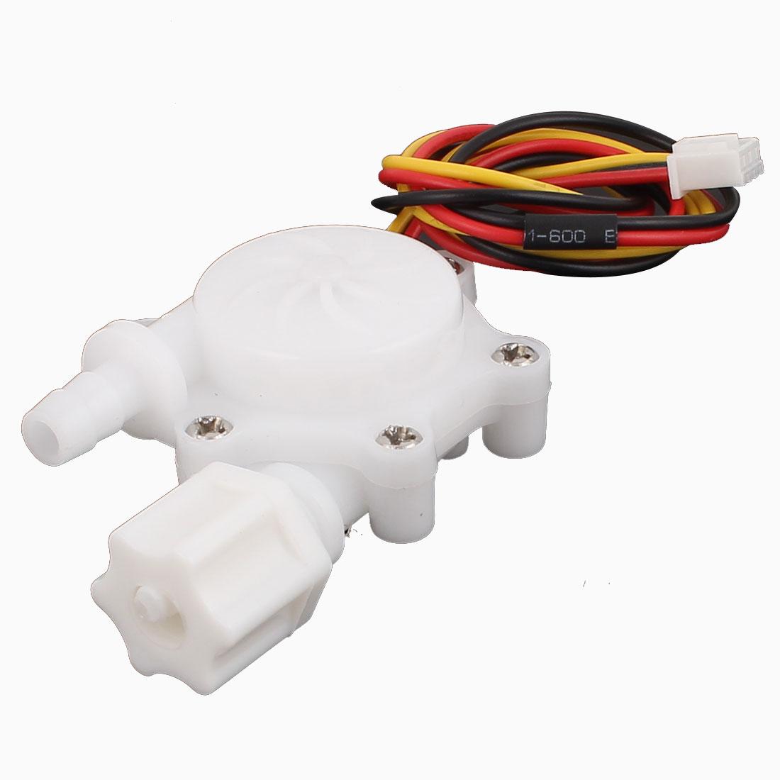 G1/4 Male Thread 6mm Outlet Outer Dia Water Flow Sensor 0.3-4.0L/min SEN-HW06FB