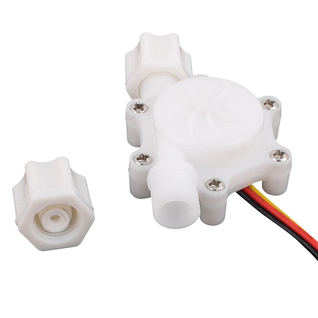 Plastic 0.2-2.5L/min G1/4 Male Thread Water Flow Sensor Flowmeter SEN-HZ06W