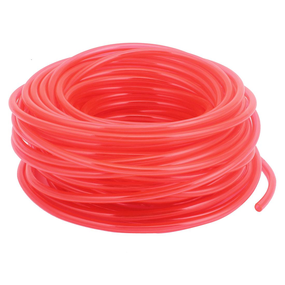 6mmx4mm Dia 22M Length Fuel Gas Air Polyurethane PU Tubing Hose Pipe Red