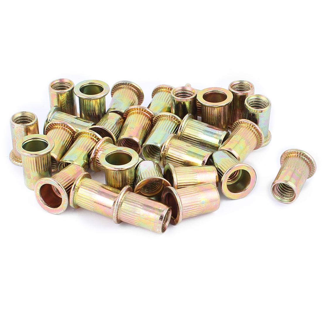 30 Pcs M8x18 Carbon Steel Rivet Nut Insert Nutsert