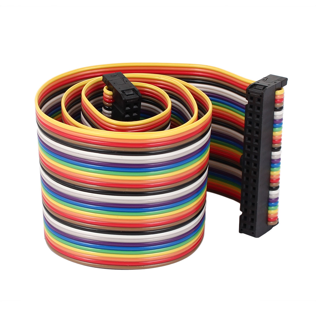 1.4ft 34 Pin 34 Way F/F Connector IDC Flat Rainbow Ribbon Cable