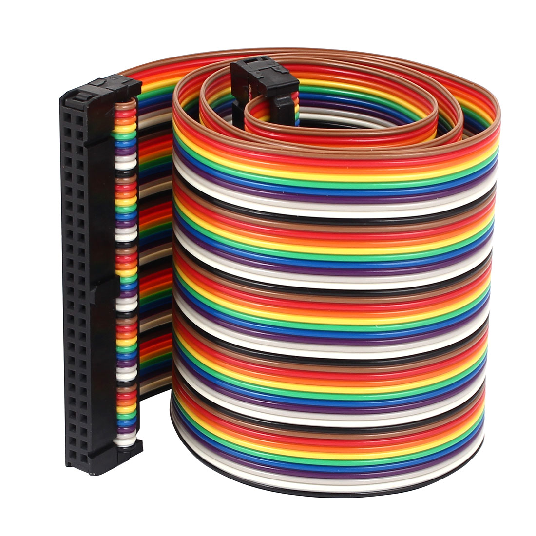 1.4ft 50 Pin 50 Way F/F Connector IDC Flat Rainbow Ribbon Cable