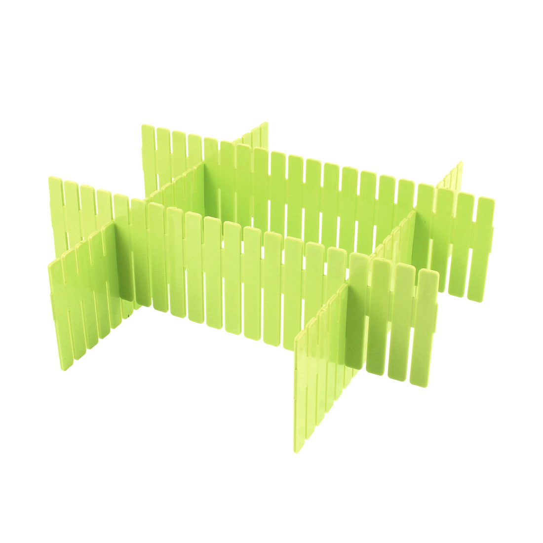 Home Storage Plastic Drawer Closet Grid Divider Clapboard Container 4pcs Green