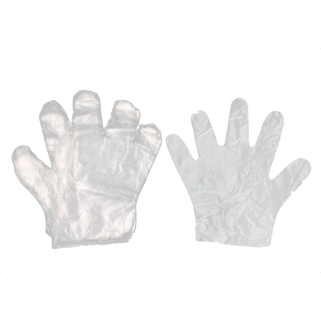25 Pairs Clear Plastic Restaurant Food Service Hand Protective Disposable Gloves