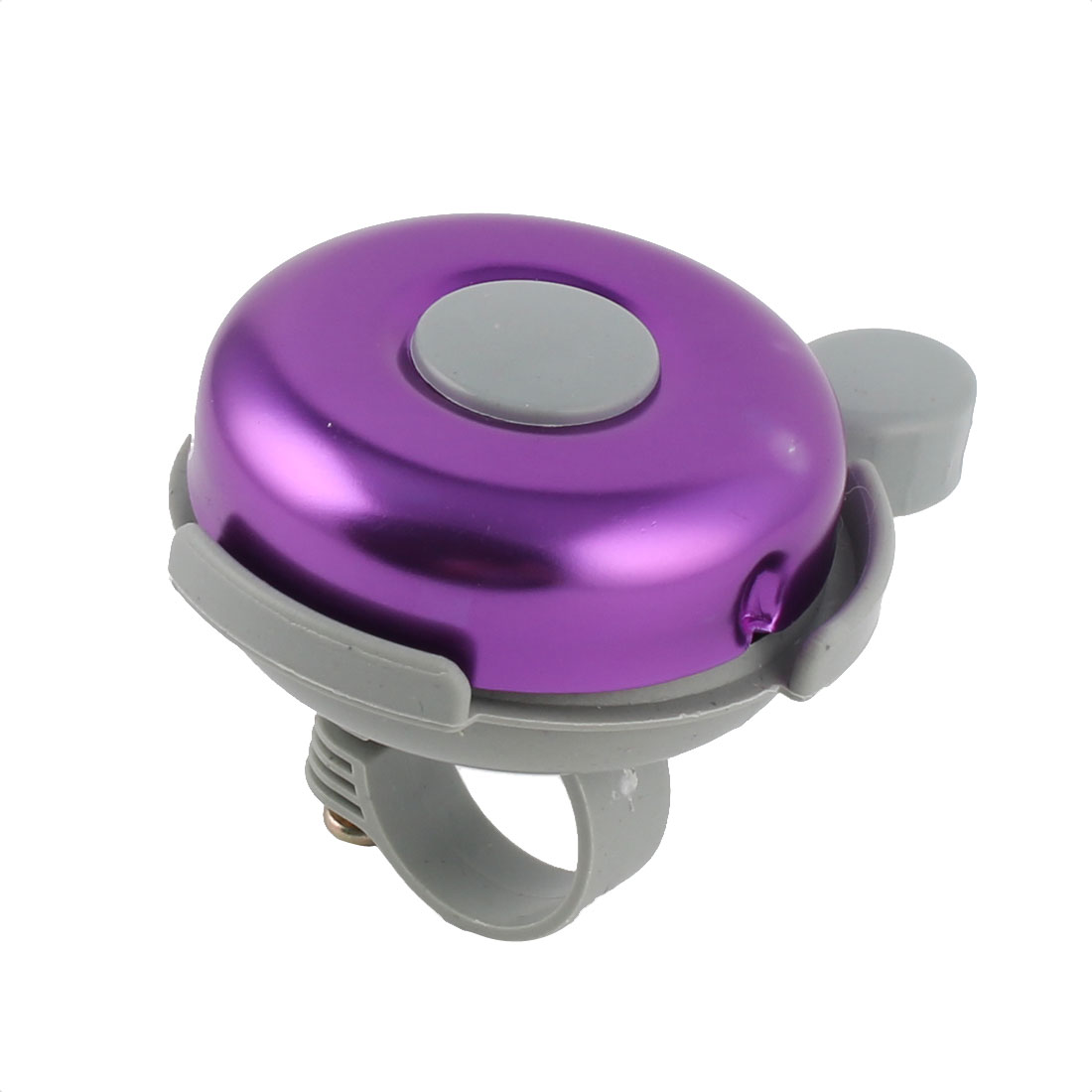 Bike Bicycle Round Shaped 21mm Dia Handlebar Sound Alarm Bell Ring Gray Purple