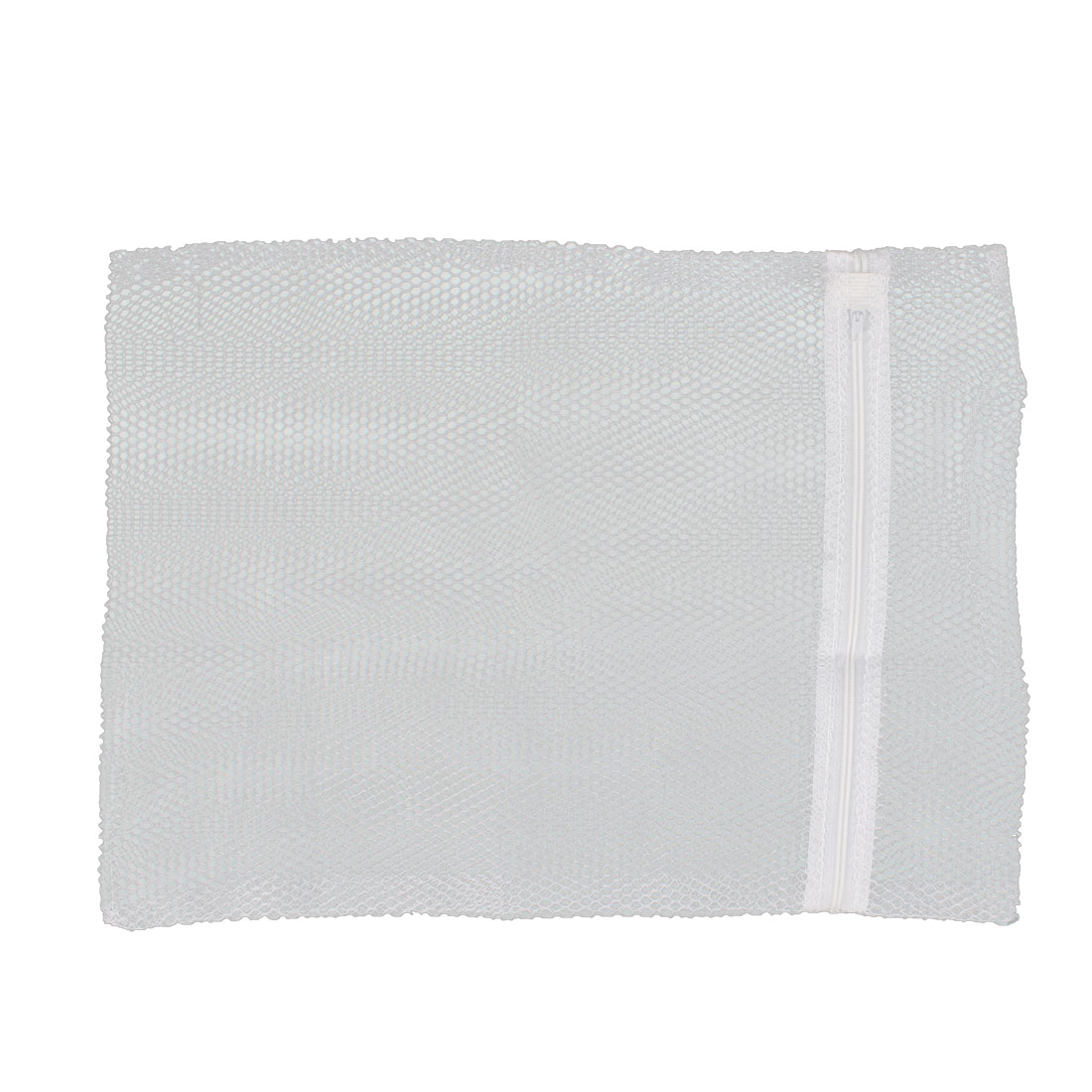 Laundry Cloth Bras Underwear Mesh Net Zipper Washing Protector Bag White
