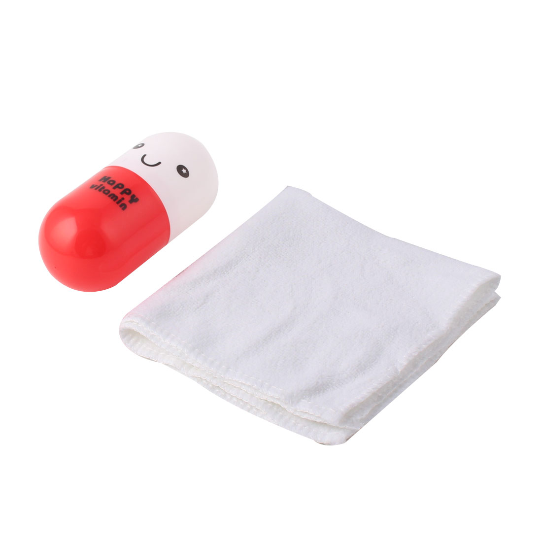 Outdoor Travel Pills Shape Box Cotton Blend Hand Towel Facecloth Washcloth