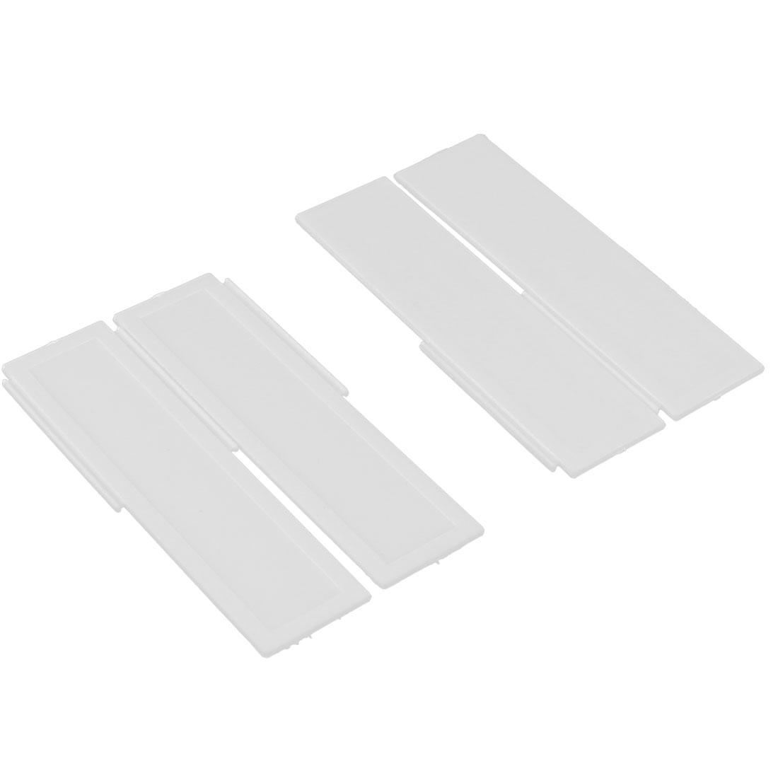 Household Plastic DIY Grid Drawer Divider Separators Storage Organizer Off White 4pcs