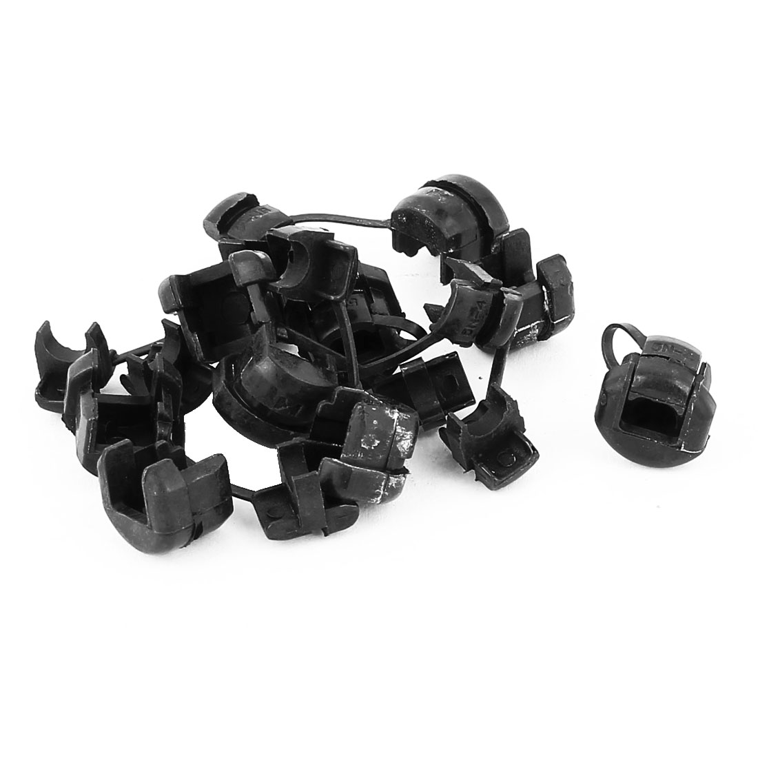 10Pcs 5N-4 Round Cable Wire Strain Relief Bush Grommet 5.3mm Diameter Black