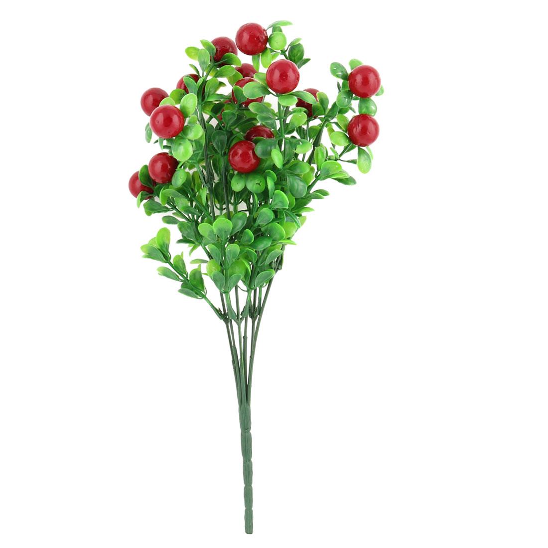 Home Restaurant Plastic Red Fruit Decorating Emulational Artificial Flower