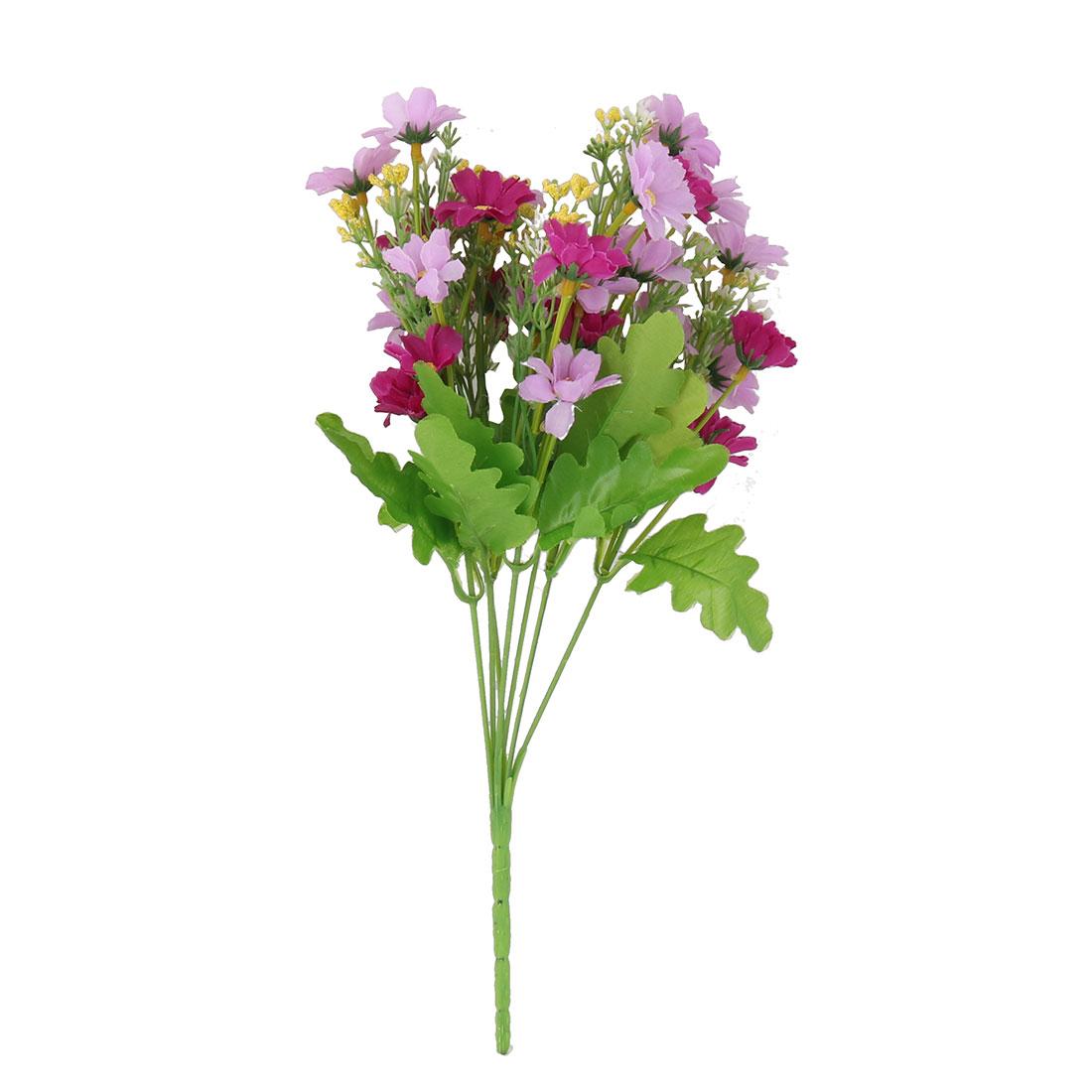 Home Office Longlasting Fibre Purple Daisy Emulational Artificial Flower