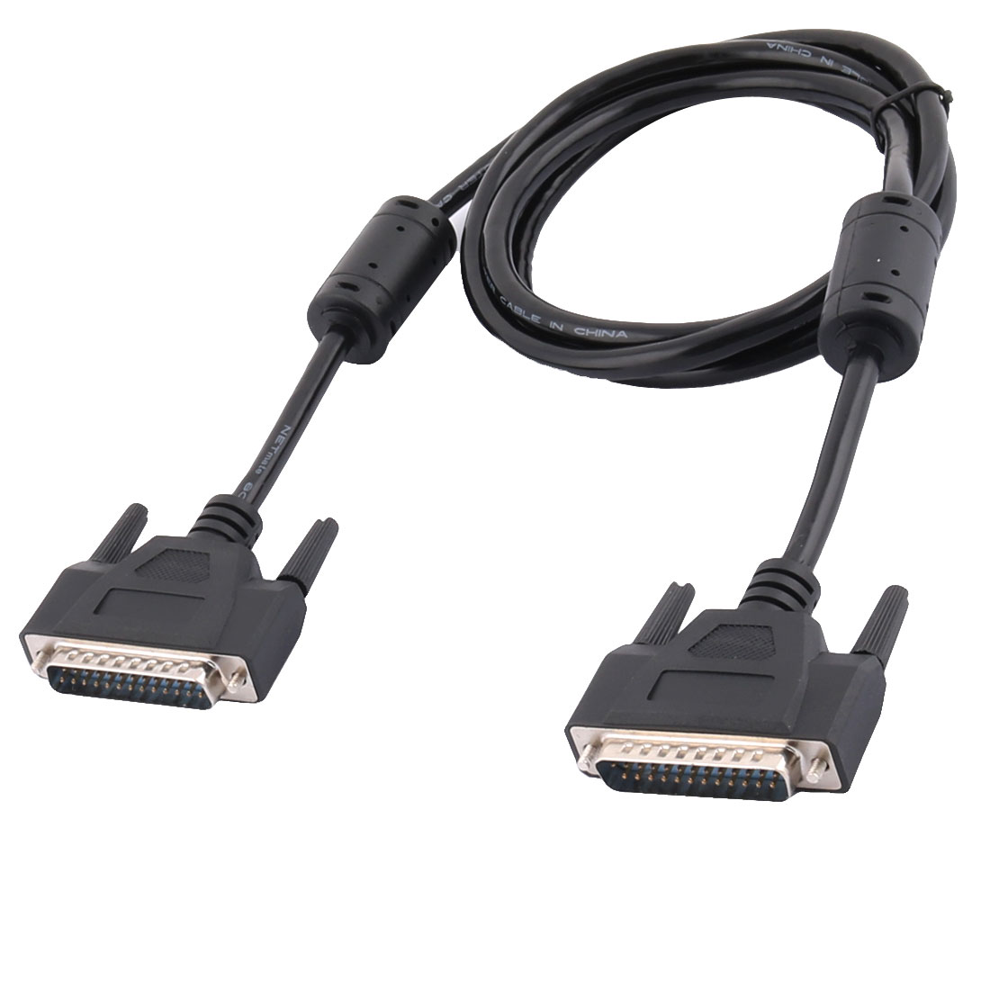 Black DB25 25 Pin Male to Male Parallel Printer Connector Extension Cable 5t 1.5M