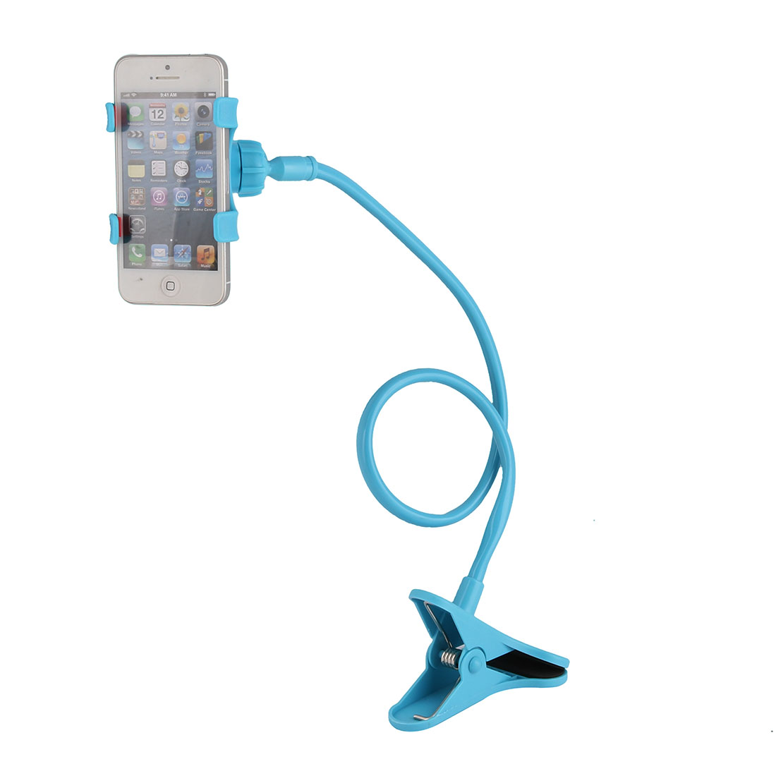 Car Desktop Bedroom Flexible Rotatable Cell Mobile Phone Holder Clip Stand Blue