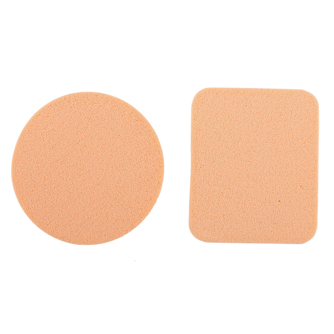 2 in 1 Round Rectangle Shaped Facial Face Sponge Makeup Cosmetic PowderPuff Applicator
