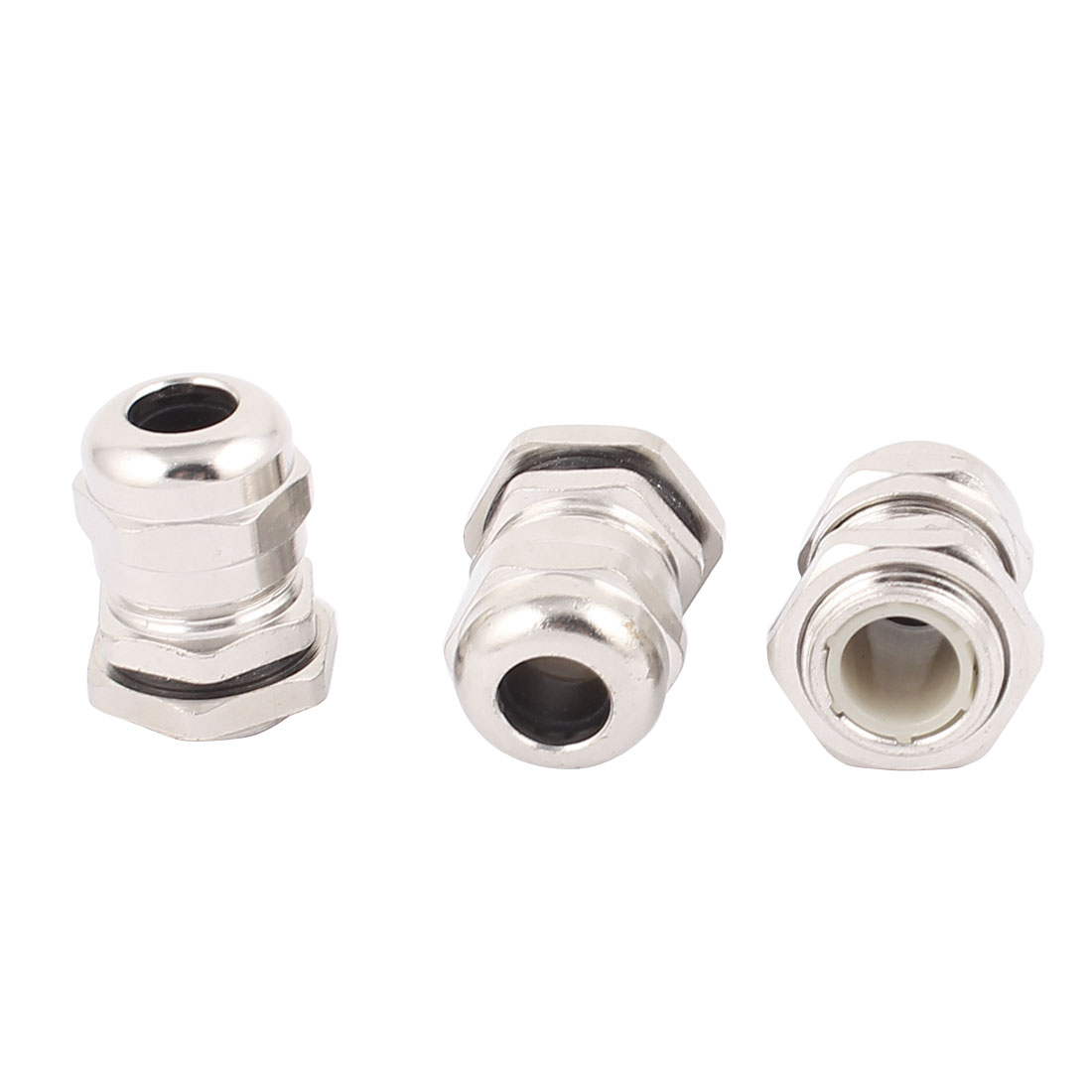 3Pcs Stainless Steel PG9 Waterproof Connector Glands for 4-8mm Dia Cables