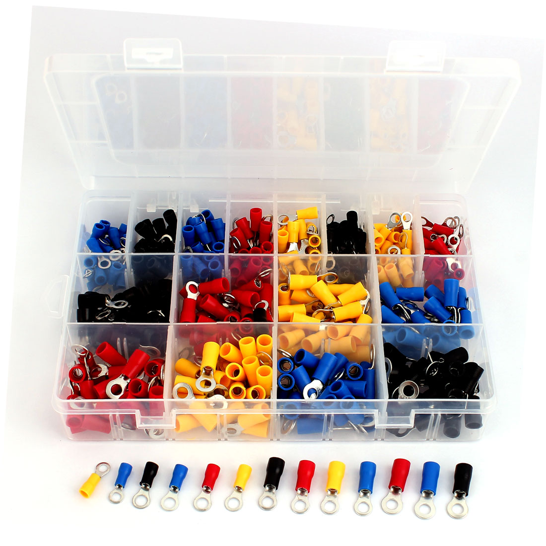400 Pcs Insulated Wire Connector Crimp Terminal Assortment Kit