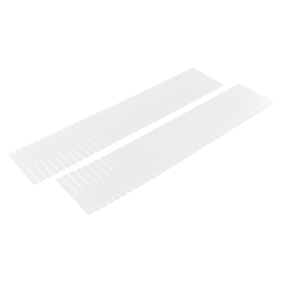 Home Storage Plastic Drawer Closet Grid Divider Tidy Organizer Container White 2pcs