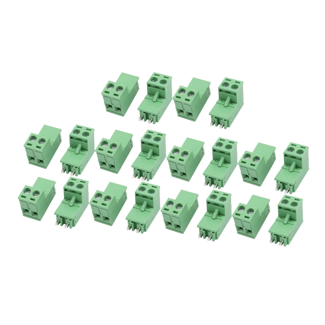 10Sets AC 300V 10A 5.08mm Pitch 2P PCB Terminal Block Female Male Wire Connector