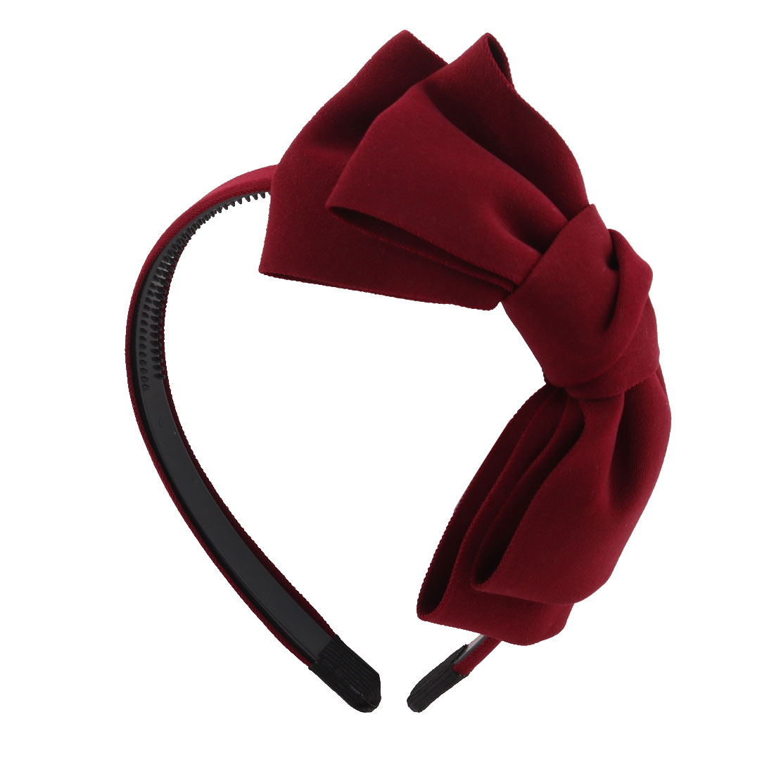 Lady Bowknot Detail Hairband Hair Hoop Band Holder DIY Hairstyle Decor Claret