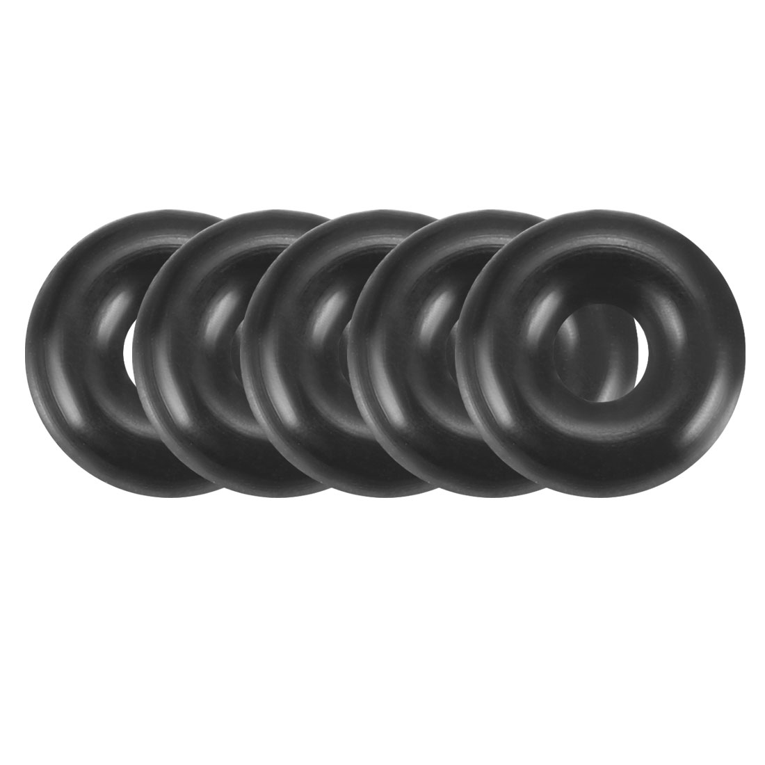Universal O-Ring Rubber Seal Washers Grommets Black 7mm x 2.5mm 200pcs