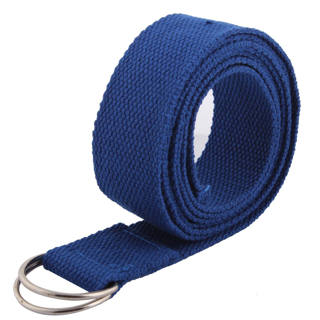 Yoga Fitness Training Sport Fibre Resistance Bands Dark Blue 1.8M Long