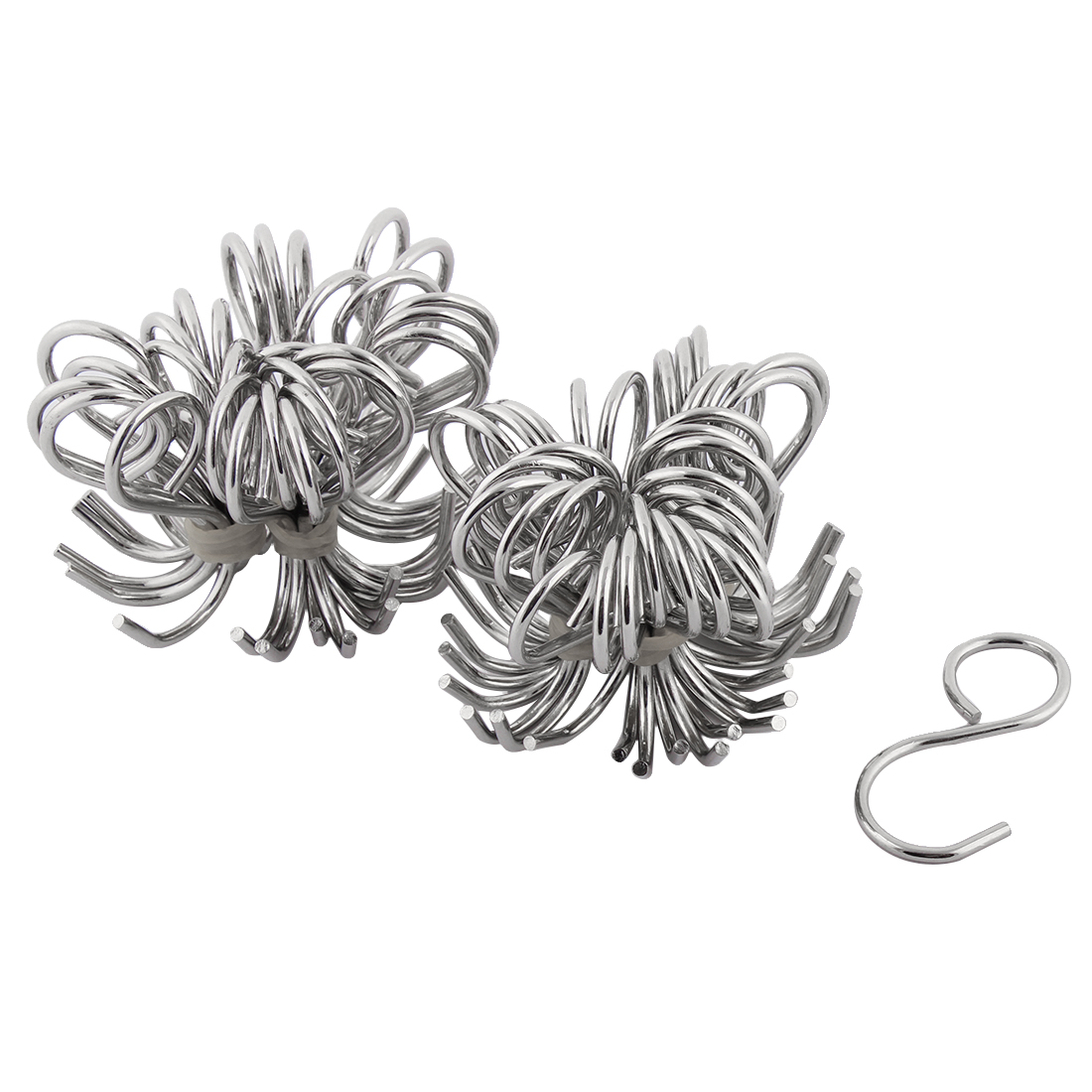 Household Bathroom Kitchen Metal S Shape Hanger Hook Silver Tone 60 Pcs