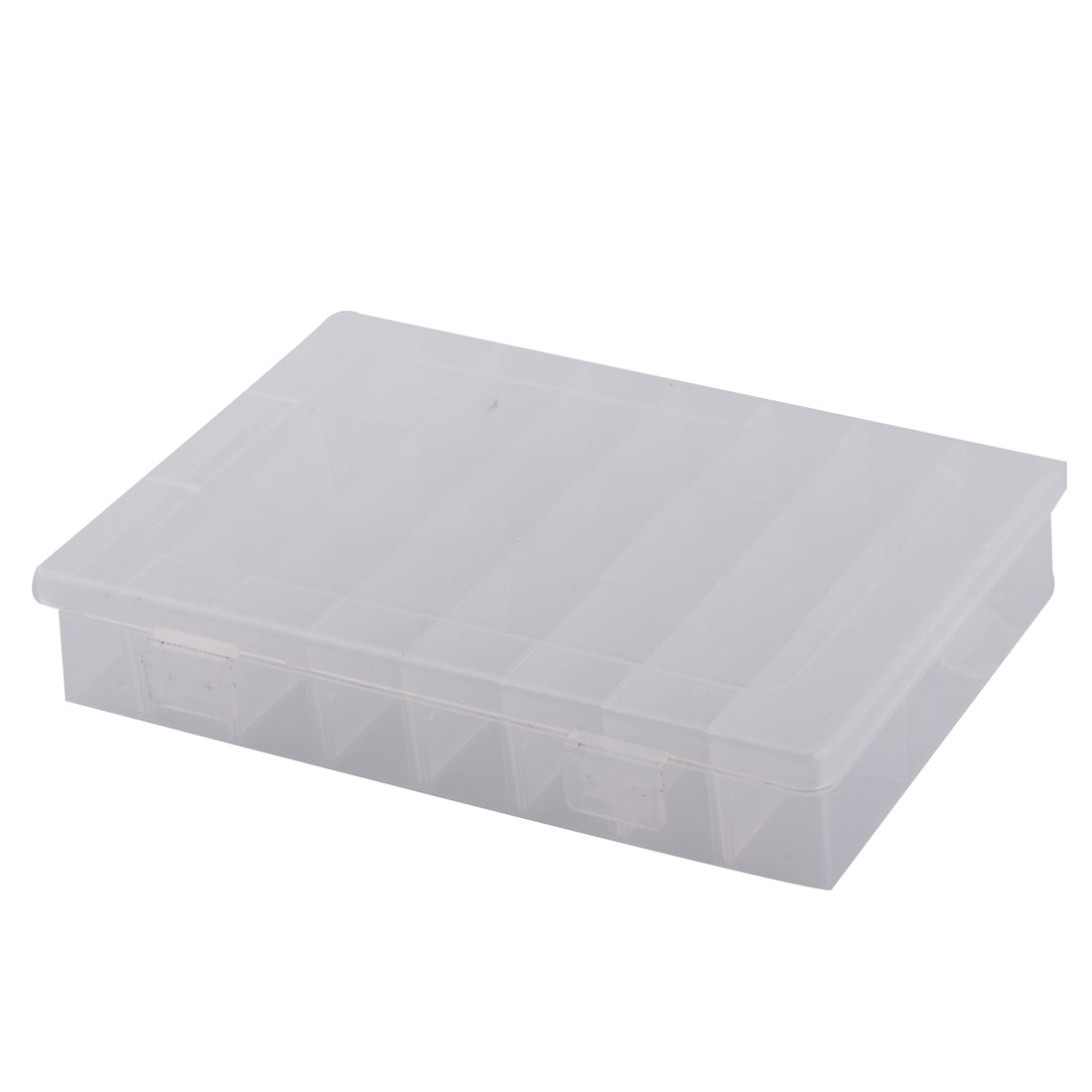 Electronic Components Tool Rectangle Plastic Detachable 24 Slots Storage Case Box Holder Organizer Clear