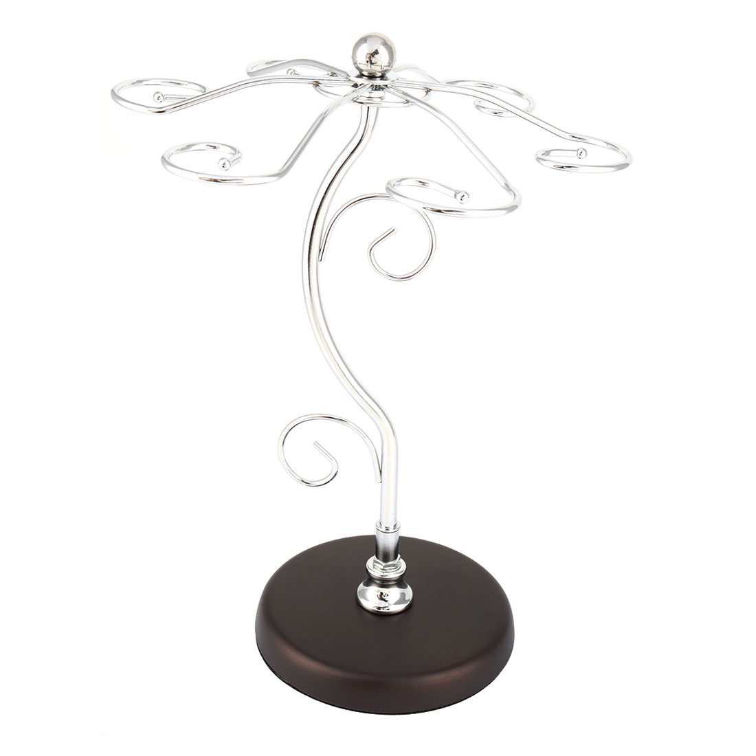 Wine Glass Hanging Upside Down Goblet Holder Wine Rack Brown Silver Tone