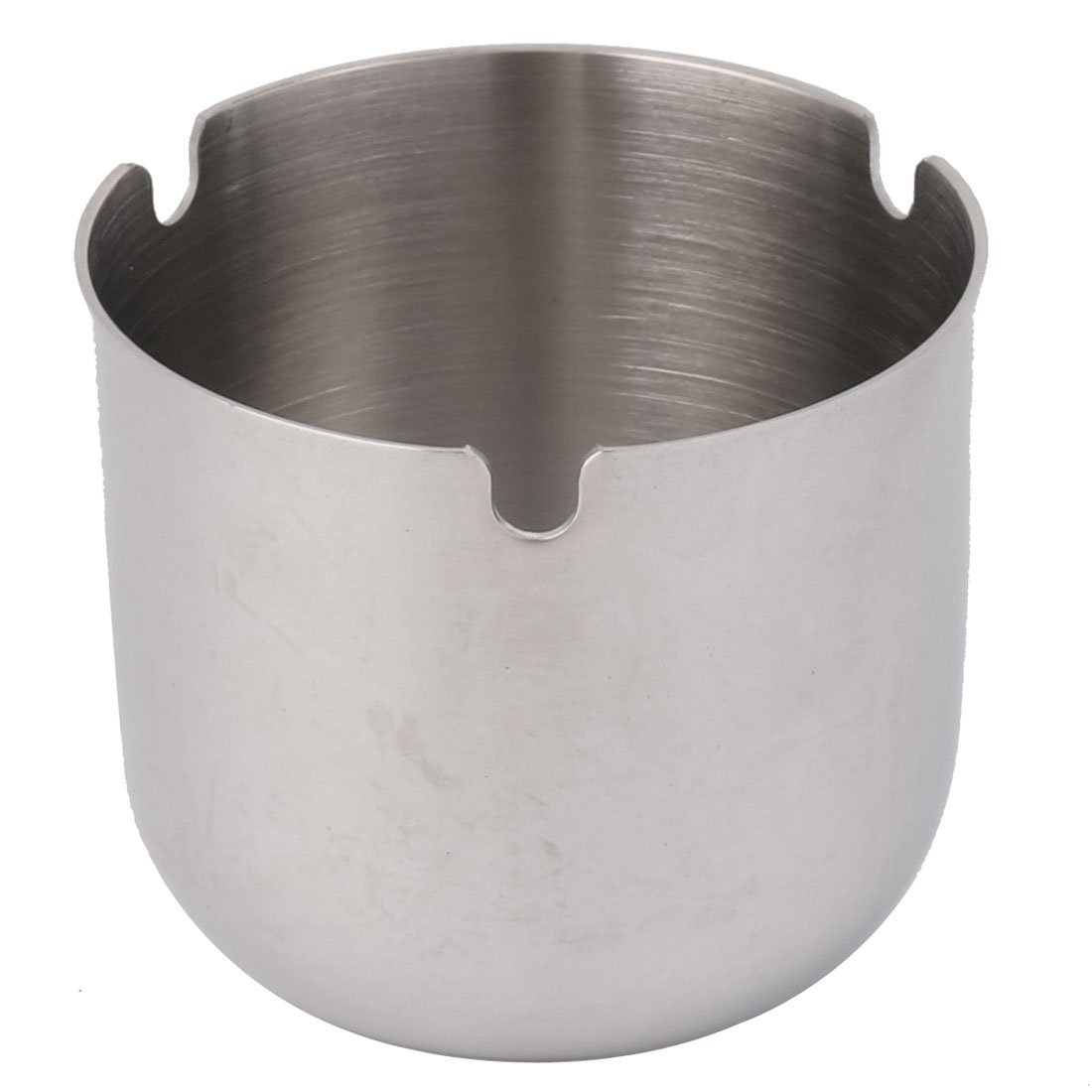 Home Office Stainless Steel Cylindrical Shaped Cigarette Holder Ashtray 8cm Dia