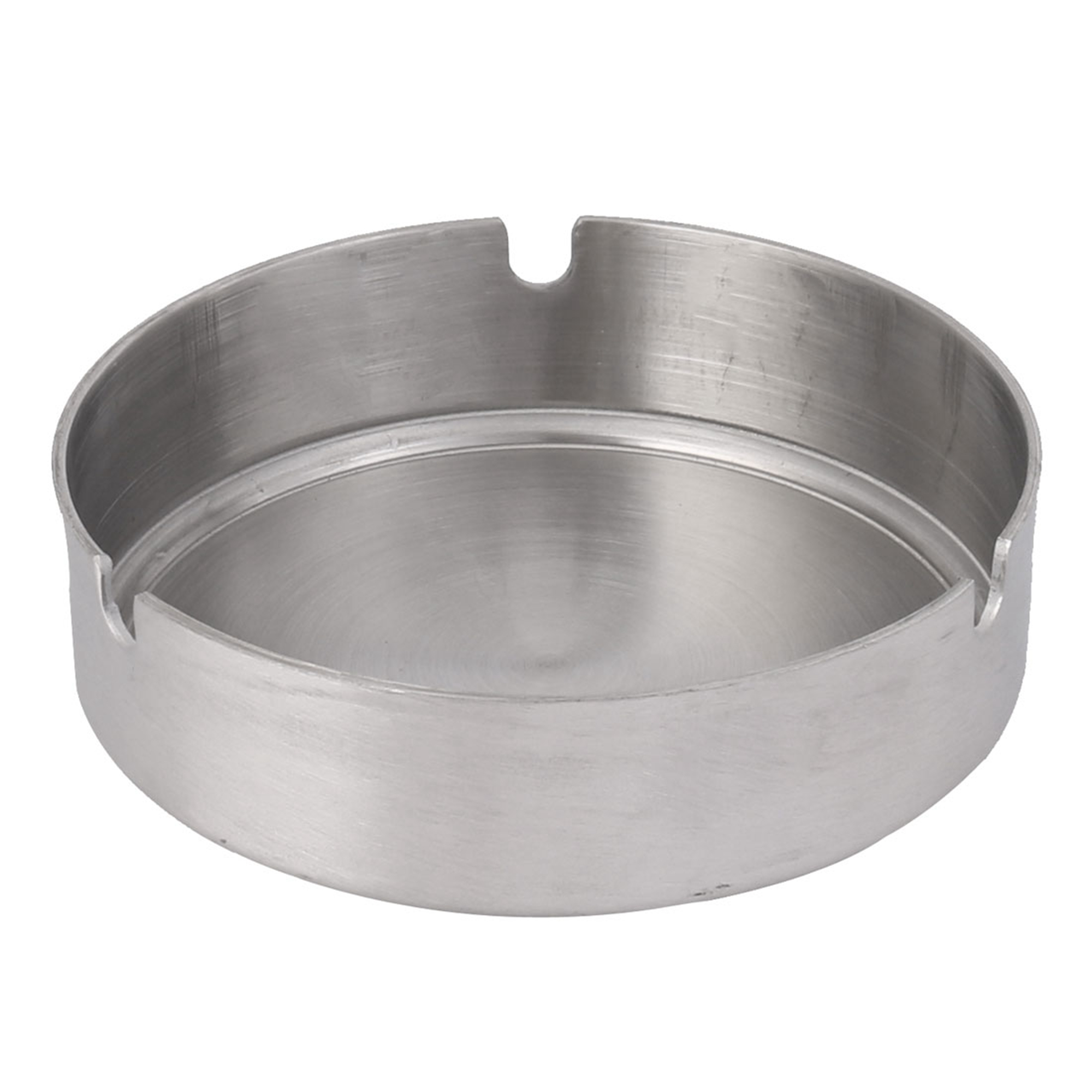 Home Office Metal Cylindrical Shaped Cigarette Holder Case Ashtray 10cm Dia