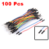 Flexible M/M Male to Male Connector Breadboard Jumper Wires 100pcs