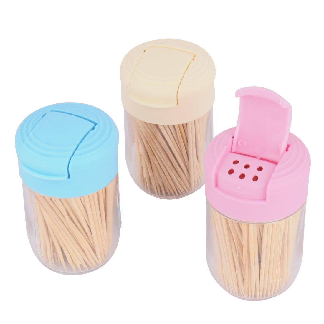 Home Restaurant Table Utensil Bamboo Toothpicks Holder Box Container 3pcs