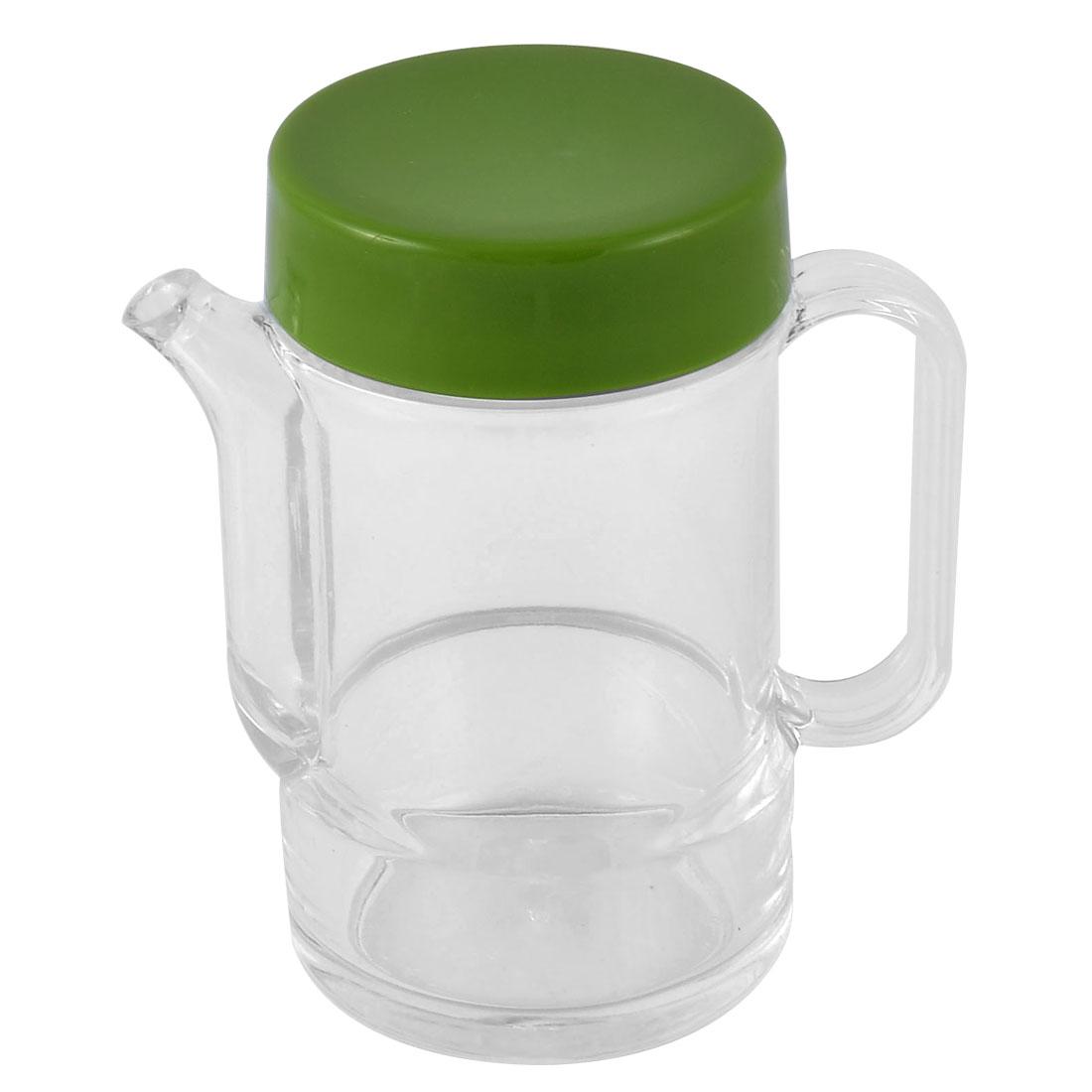 Plastic Household Kitchen Cooking Oil Sauce Cruet Green 300ml Capacity