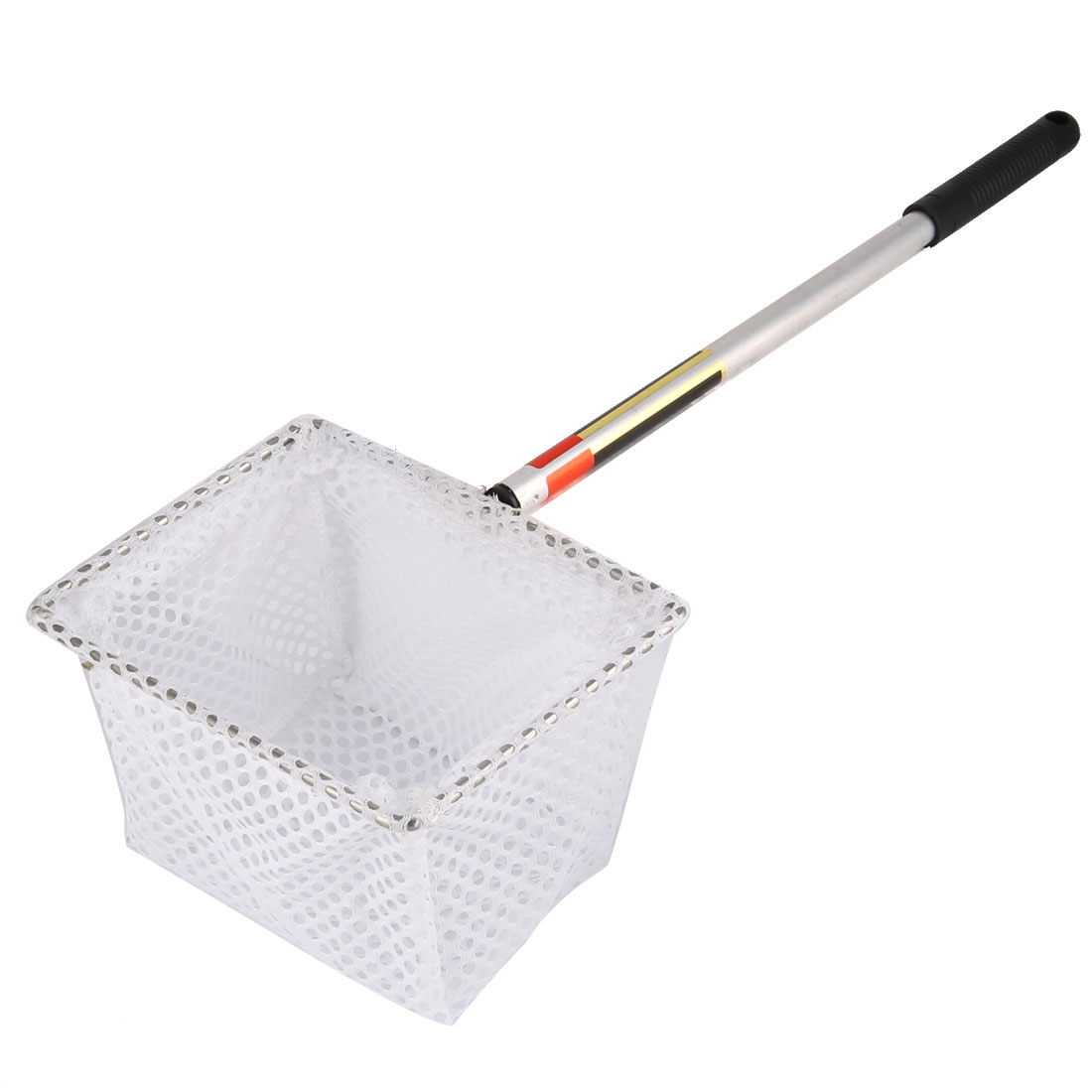 Aquarium Nylon Mesh Plastic Handle Rectangle Shrimps Fishing Angling Net White