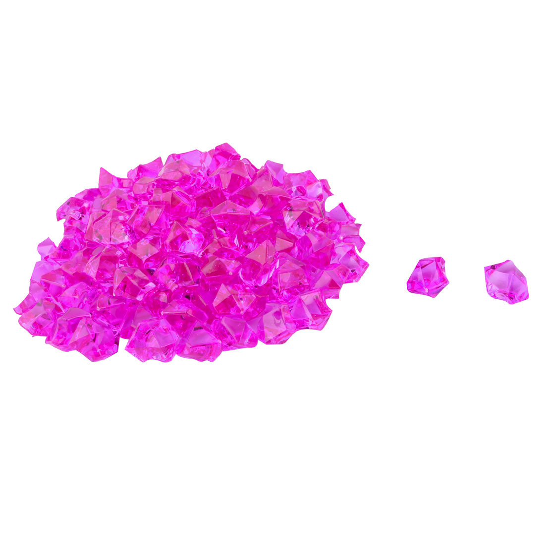 Fish Tank Aquarium Irregular Acrylic Ice Rock Scatters Decorative Stone Fuchsia 111pcs