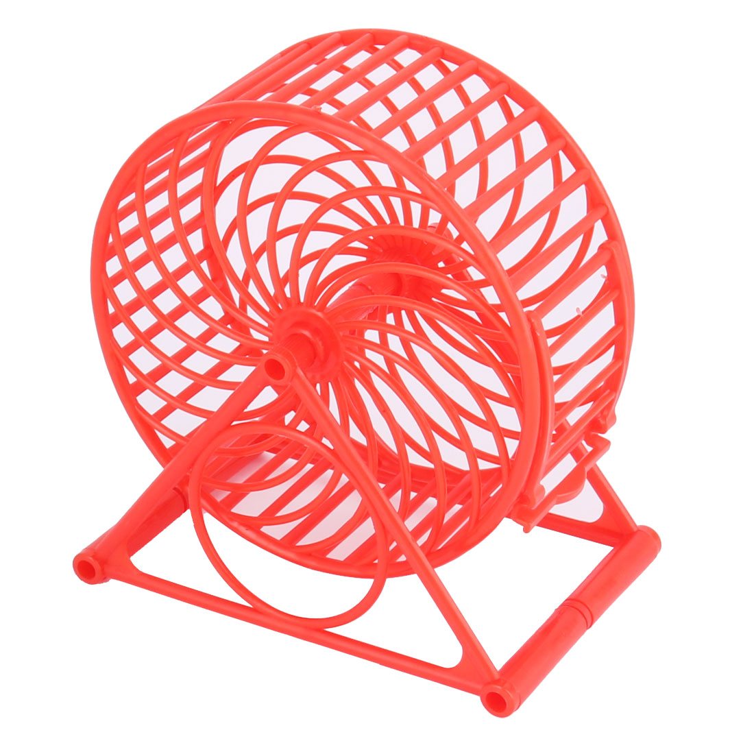 Pet Hamster Gerbil Small Animals Plastic Play Stand Wheel Toy Holder Red