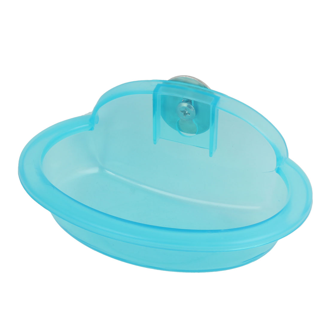 Pet Dog Doggie Plastic Oval Shaped Food Water Drinking Bowl Dish Feeder Sky Blue
