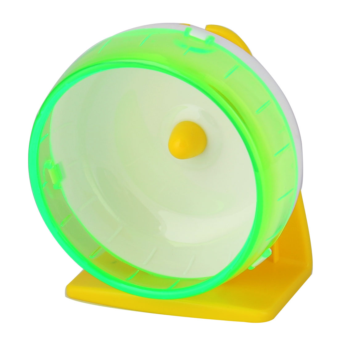 Pet Hamster Gerbil Plastic Play Stand Wheel Toy Holder Light Green w Suction Cup