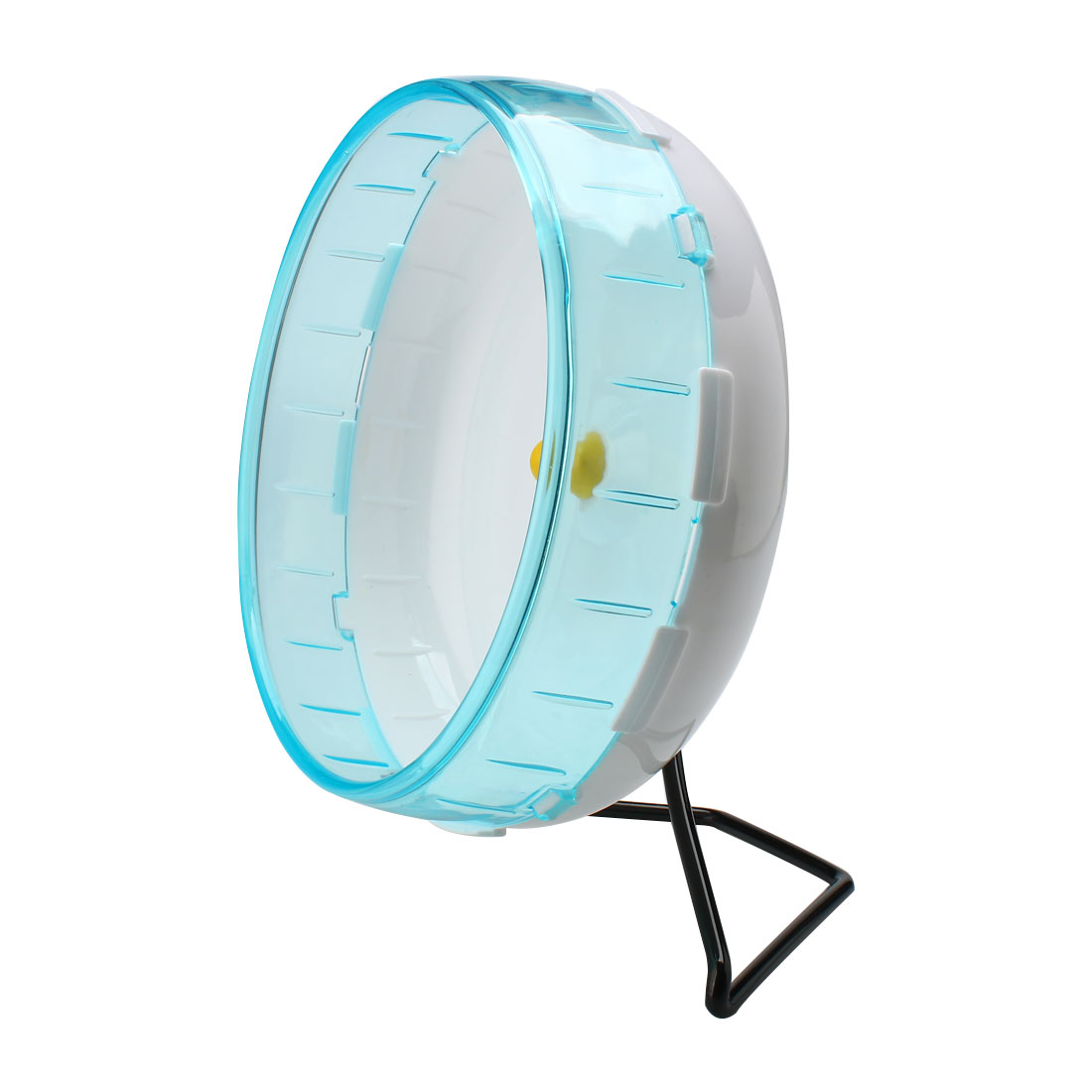 Pet Hamster Gerbil Plastic Exercise Sport Play Stand Wheel Toy Holder Sky Blue