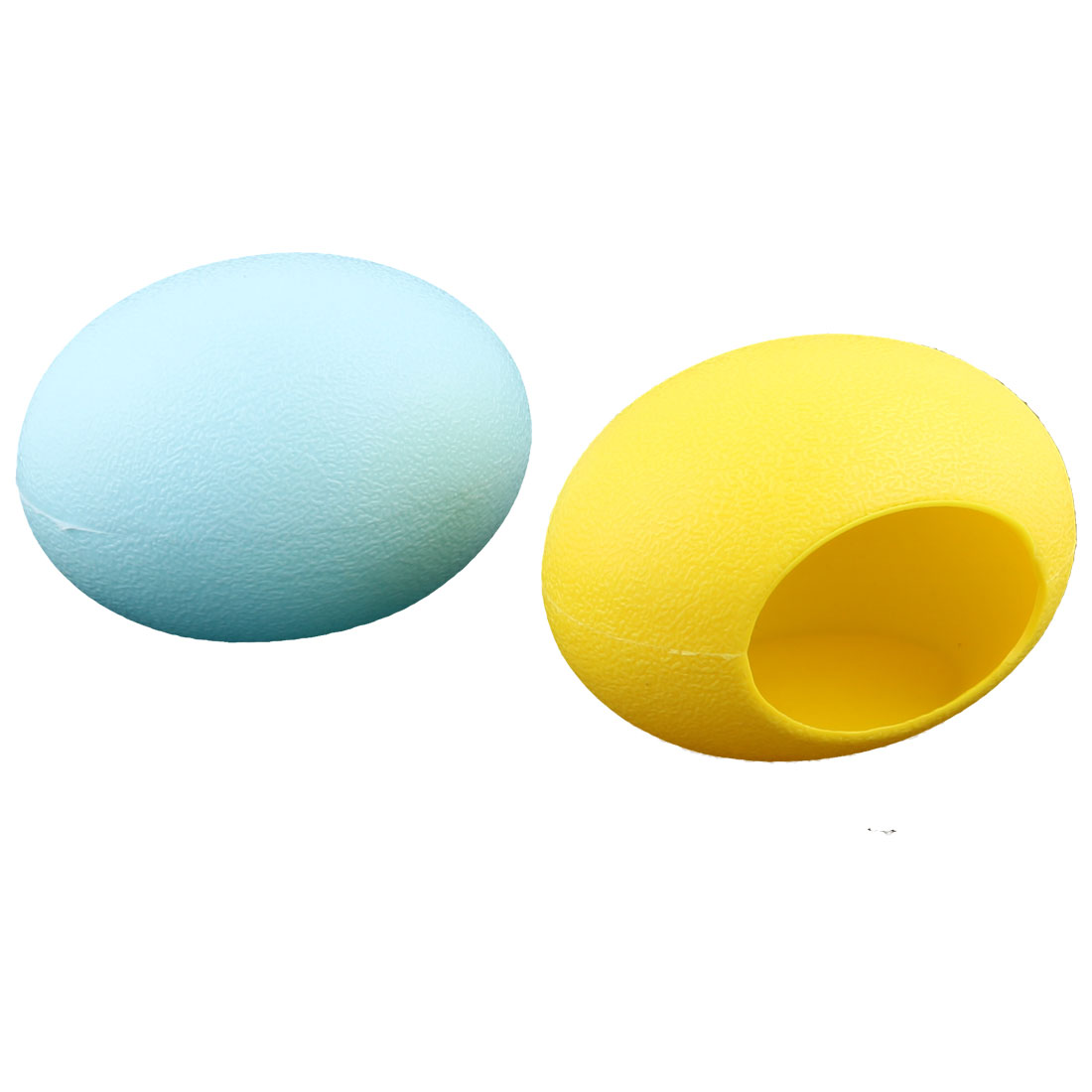 Plastic Egg Shape Small Hamster Mice Mouse Pet House Room Blue Yellow 2pcs