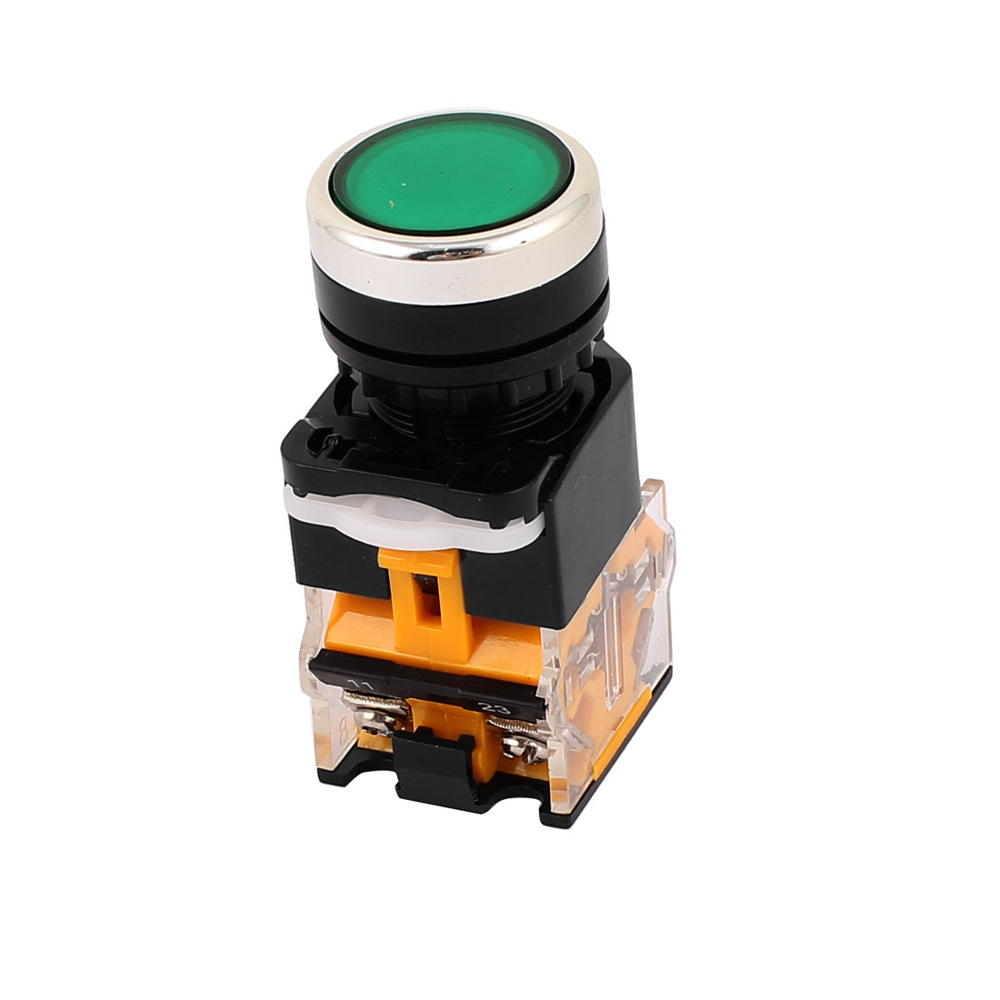Ui 380V Ith 10A Green Cap 1NO 1NC DPST Momentary Push Button Switch